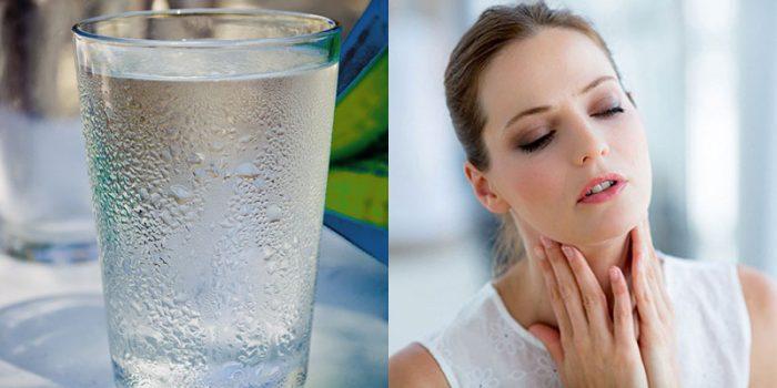 Viêm amidan uống nước đá khiến cổ họng bị bỏng lạnh, giảm hệ miễn dịch